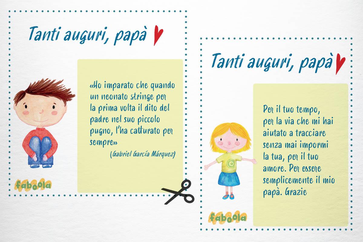Faboola: i bigliettini per la festa del papà